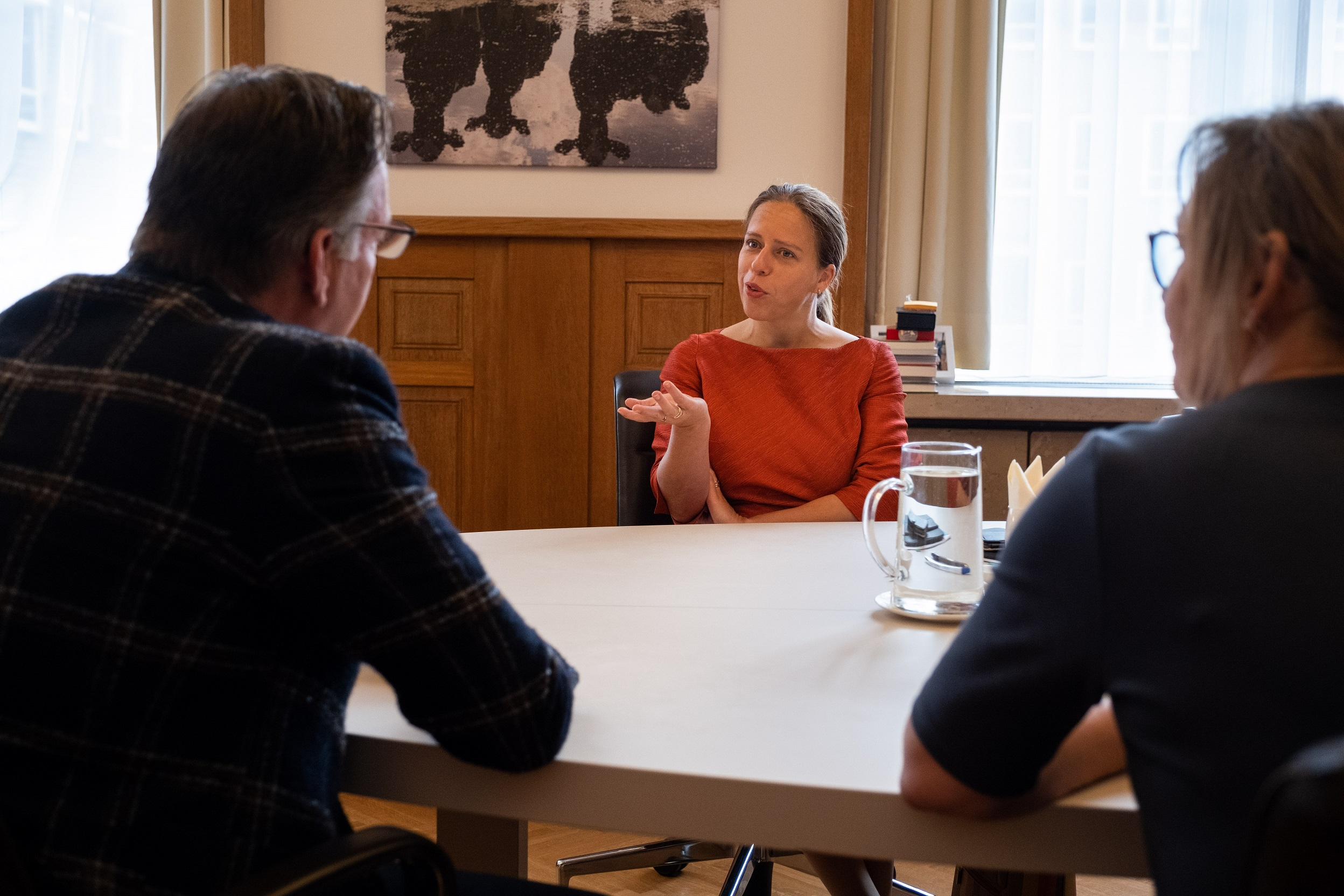 Jaco Burgers in gesprek met minister Schouten 2